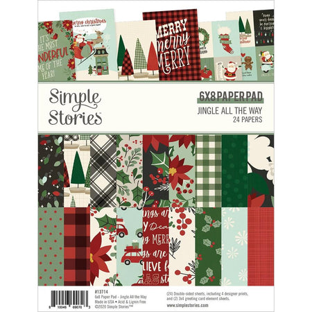Simple Stories Jingle All The Way - 6x8 Paper Pad