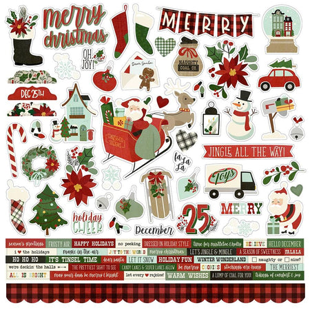 Simple Stories Jingle All The Way - Combo Cardstock Stickers