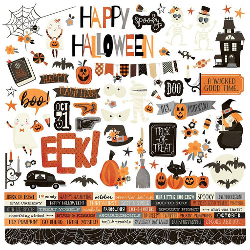 Simple Stories Boo Crew - Combo Cardstock Stickers