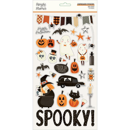 Simple Stories Boo Crew - Chipboard Stickers