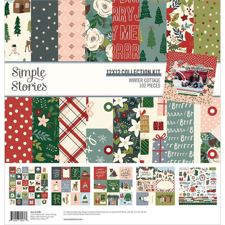 Simple Stories Winter Cottage - 12x12 Collection Kit