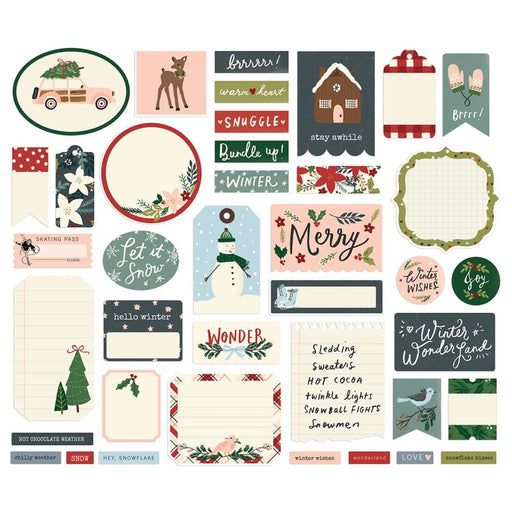 Simple Stories Winter Cottage - Journal Bits & Pieces