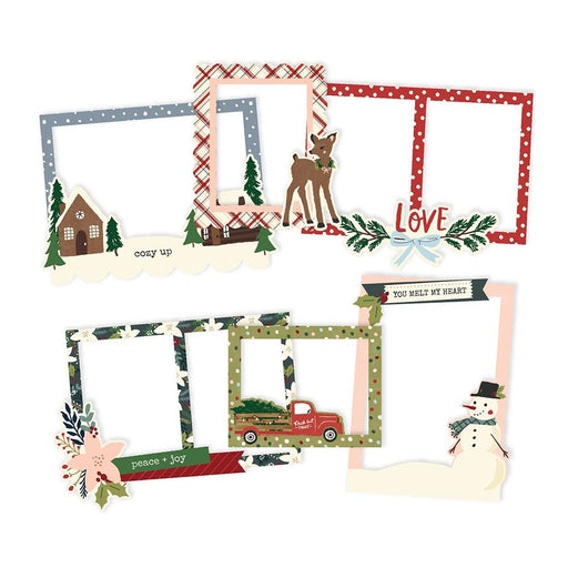 Simple Stories Winter Cottage - Layered Chipboard Frames