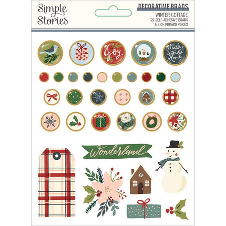 Simple Stories Winter Cottage - Decorative Brads