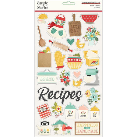 Simple Stories Apron Strings - Chipboard Stickers