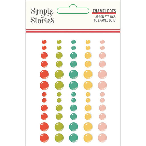 Simple Stories Apron Strings - Enamel Dots