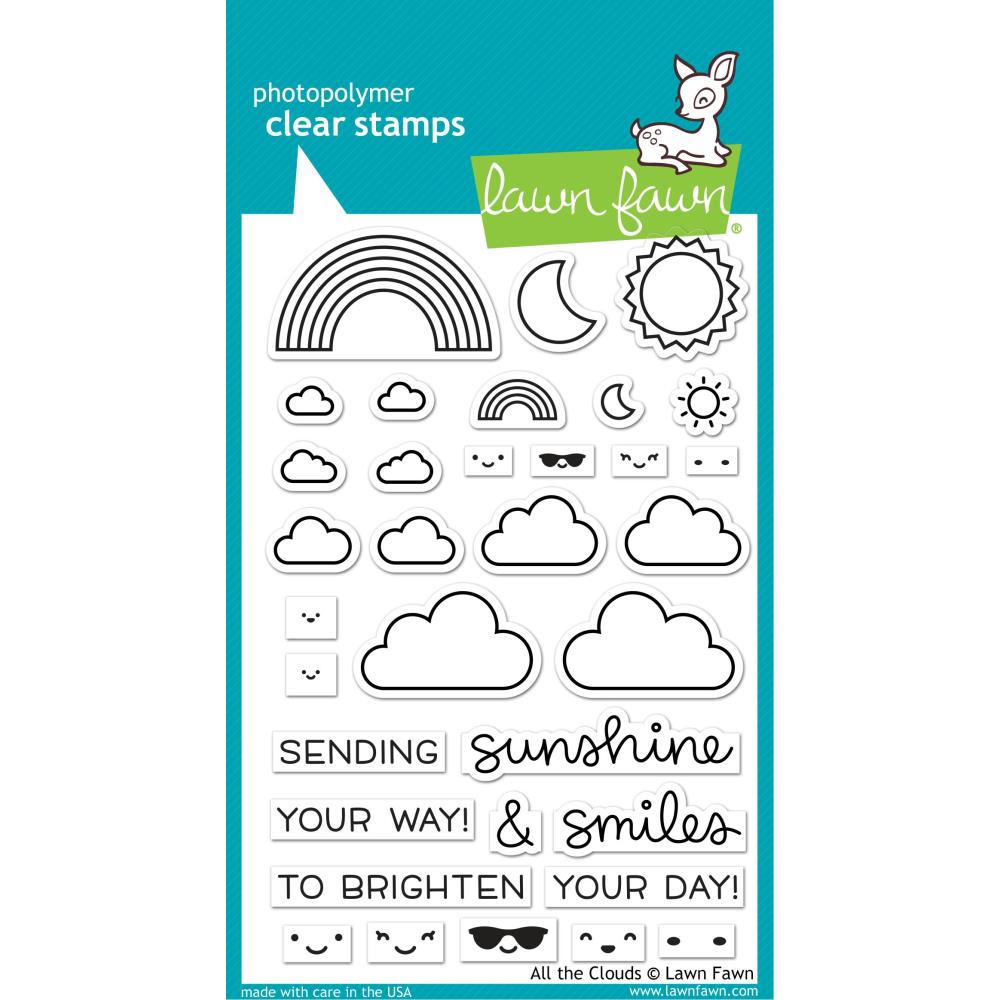 Lawn Fawn Clear Stamps - All the Clouds