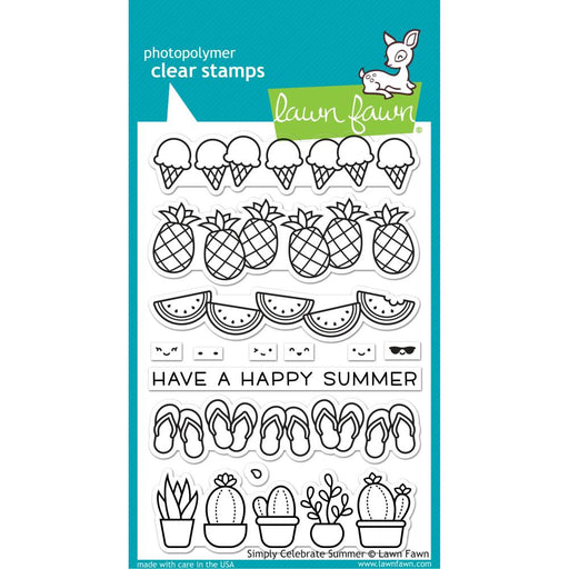 Lawn Fawn Clear Stamps - Simply Celebrate Summer