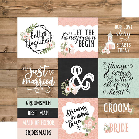 Echo Park Our Wedding - 4x4 Journaling Cards