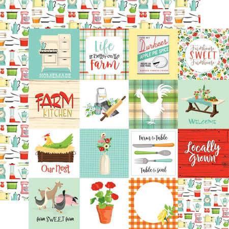 Carta Bella Farm To Table - 3x3 Journaling Cards