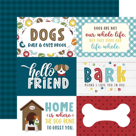 Echo Park My Dog - 6x4 Journaling Cards