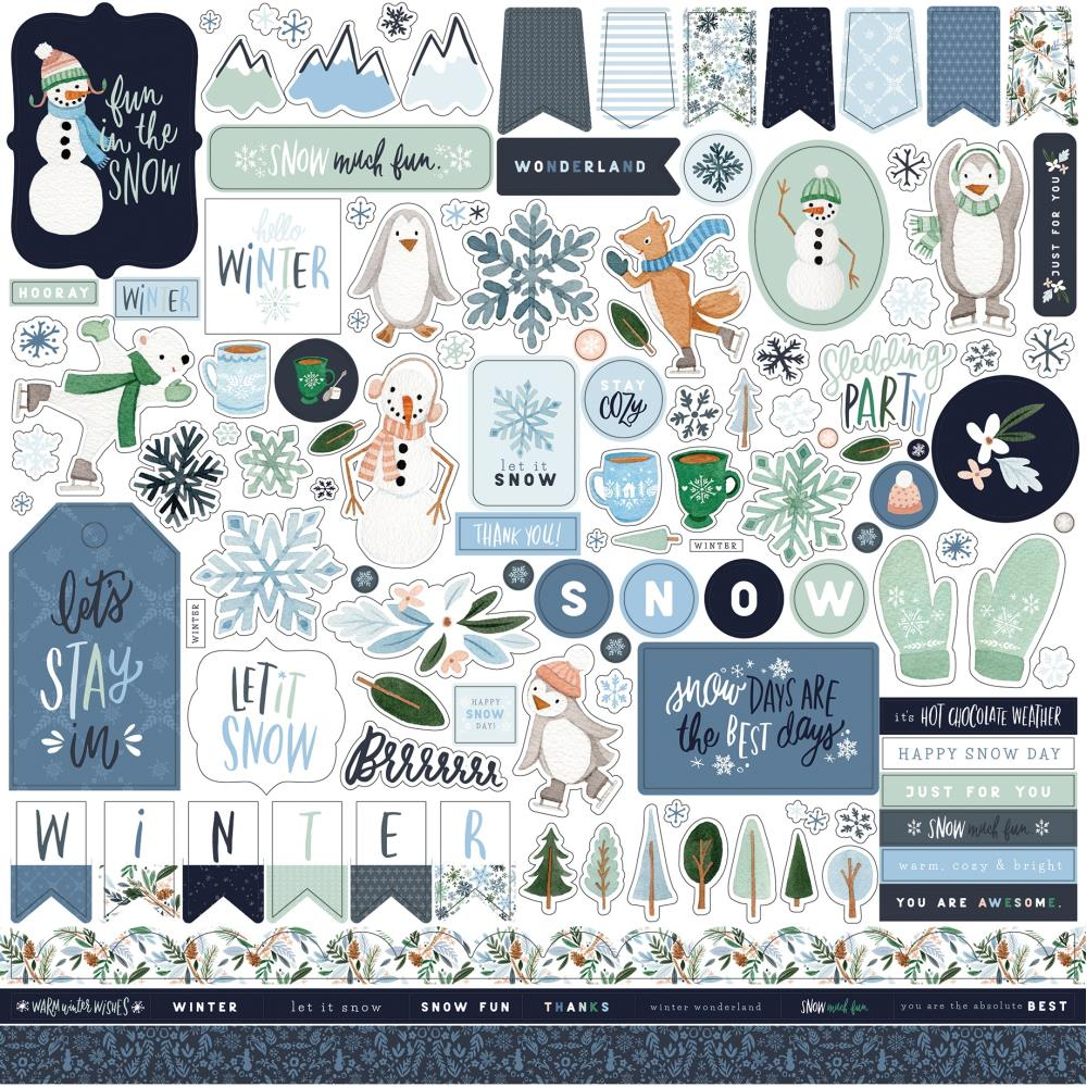 Carta Bella Winter Market - Element Stickers