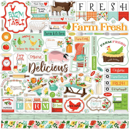 Carta Bella Farm To Table - Element Stickers