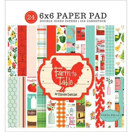 Carta Bella Farm To Table - 6x6 Paper Pad