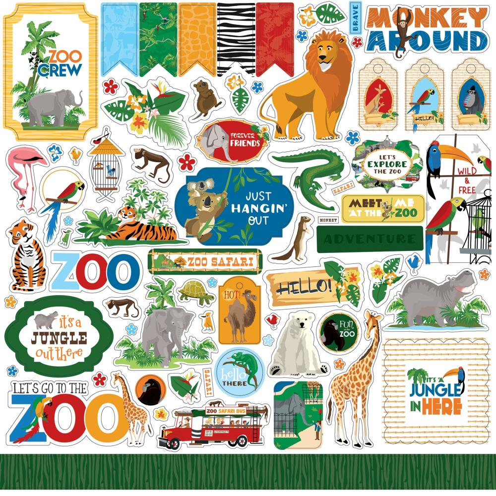 Carta Bella Zoo Adventure - Element Stickers