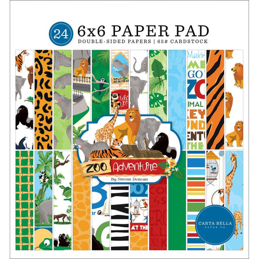 Carta Bella Zoo Adventure - 6x6 Paper Pad