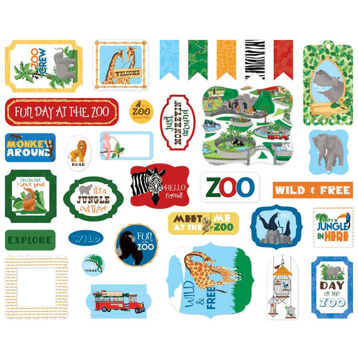 Carta Bella Zoo Adventure - Ephemera Icons