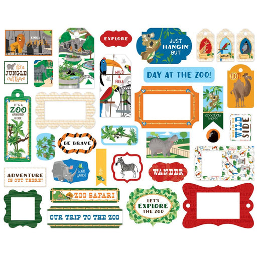 Carta Bella Zoo Adventure - Ephemera Frames and Tags