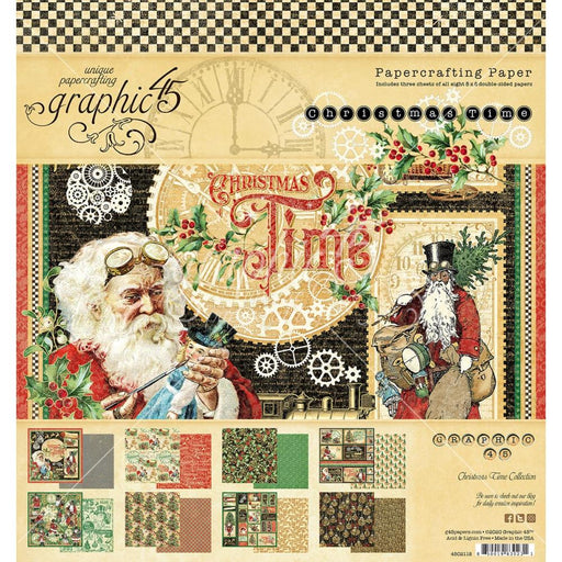 Graphic 45 Christmas Time - 8x8 Pad