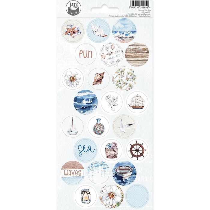 P13 Beyond the Sea - Cardstock Stickers #3