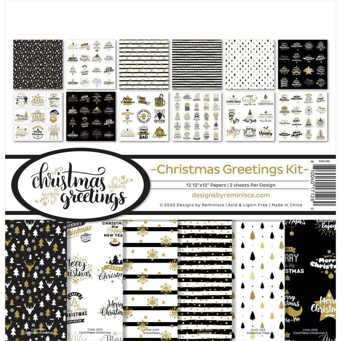 Reminisce Christmas Greetings - Collection Kit