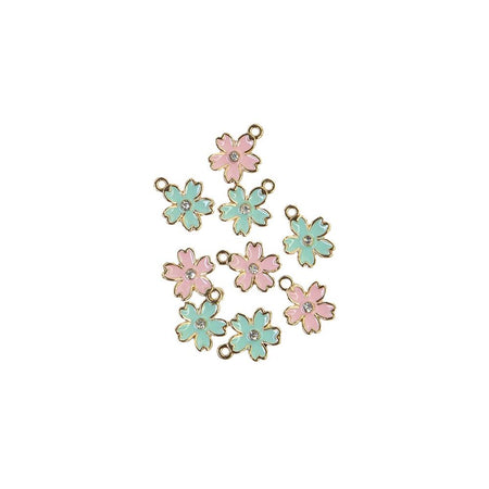 Prima Sugar Cookie Christmas - Flower Enamel Charms