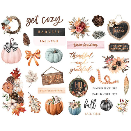 Prima Pumpkin & Spice - Chipboard Stickers