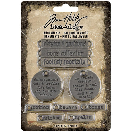 Tim Holtz Idea-ology - Adornments Halloween Words