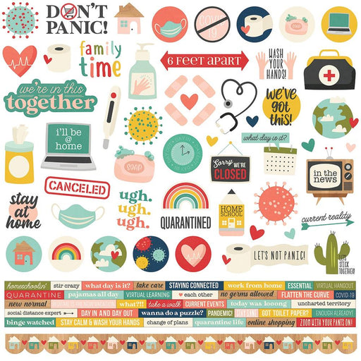 Simple Stories Quarantined - Combo Stickers