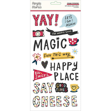 Simple Stories Say Cheese Main Street - Foam Stickers