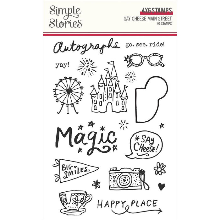 Simple Stories Say Cheese Main Street - Clear Stamps