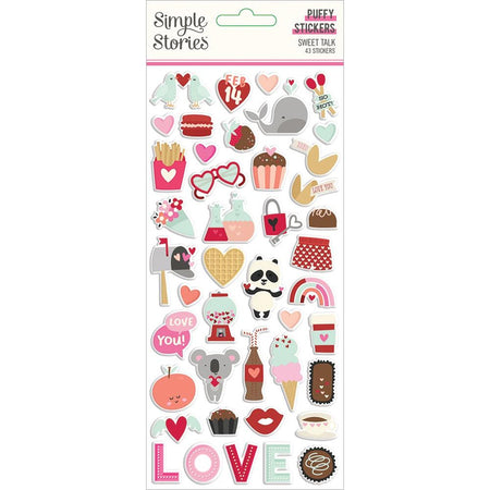 Simple Stories Sweet Talk- Puffy Stickers