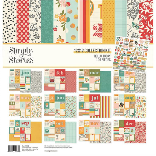 Simple Stories Hello Today - 12x12 Collection Kit