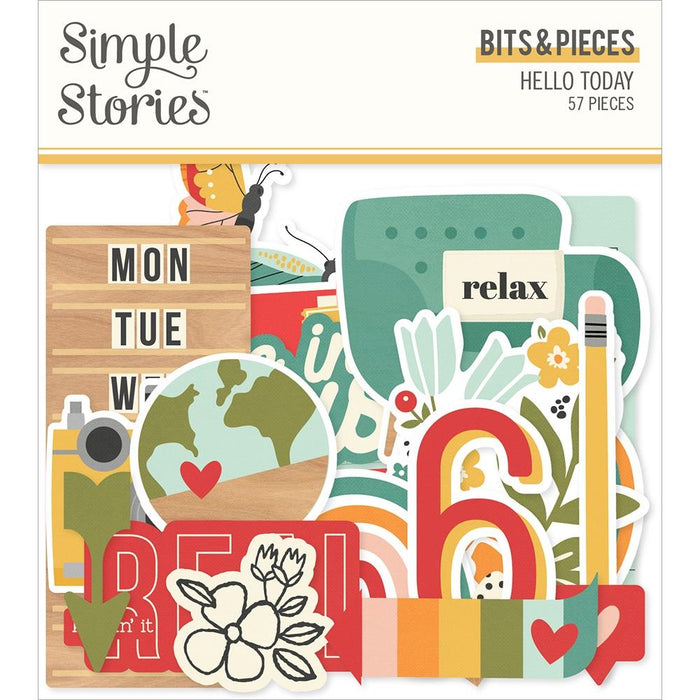Simple Stories Hello Today - Bits & Pieces