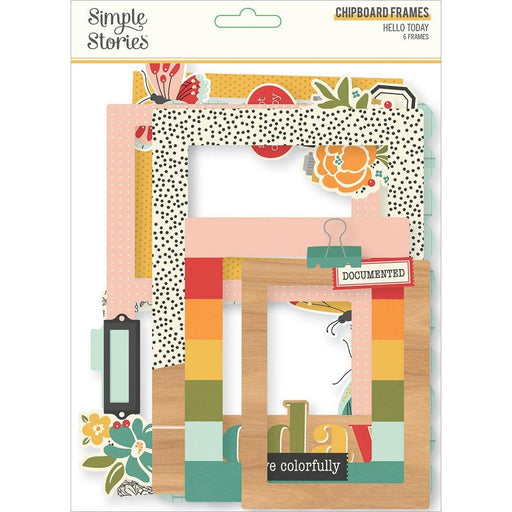 Simple Stories Hello Today - Layered Chipboard Frames