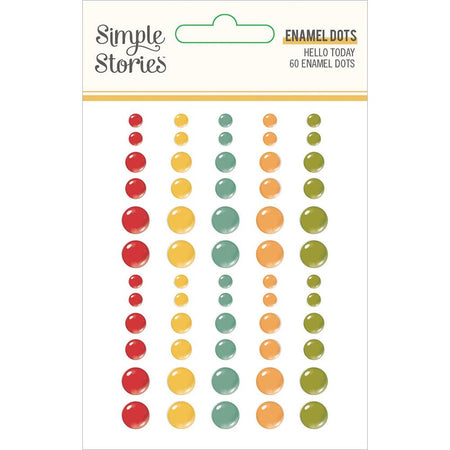 Simple Stories Hello Today - Enamel Dots