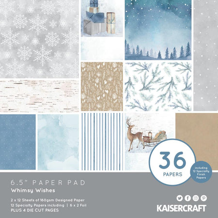 Kaisercraft Whimsy Wishes - 6.5 x 6.5 Paper Pad