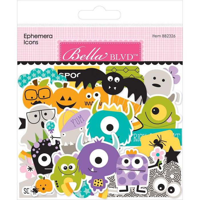 Bella Blvd Monsters and Friends - Ephemera Icons