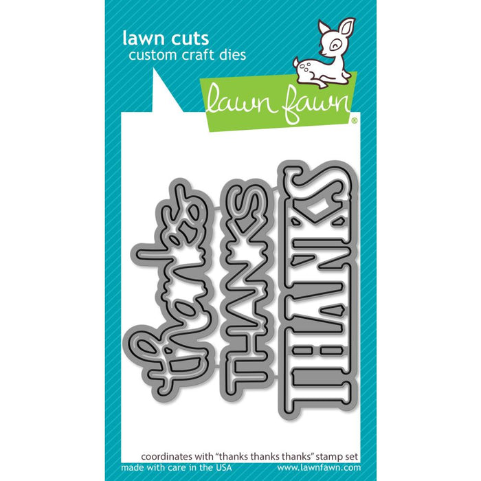 Lawn Fawn Craft Die - Thanks Thanks Thanks