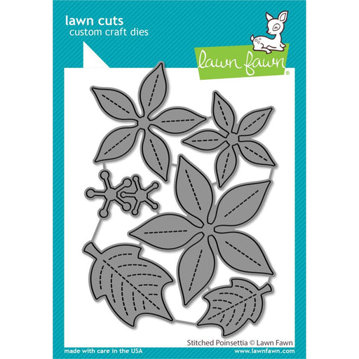 Lawn Fawn Craft Die - Stitched Poinsettia Dies