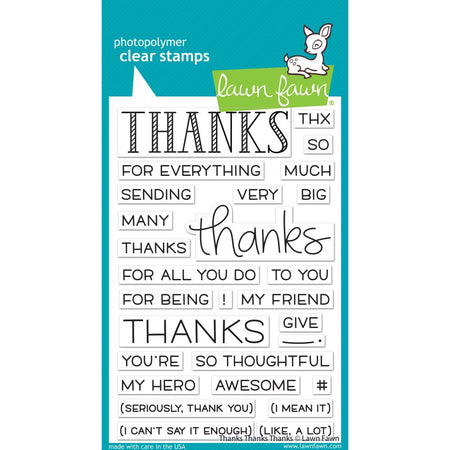 Lawn Fawn Clear Stamps - Thanks Thanks Thanks