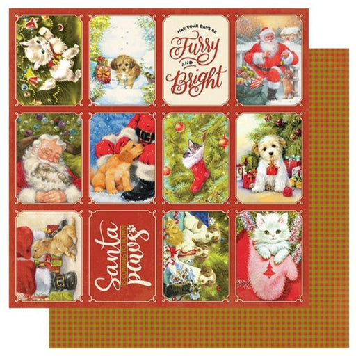 Authentique Christmas Greetings - #1 Holiday Dogs & Cats 3x4 Cut Aparts