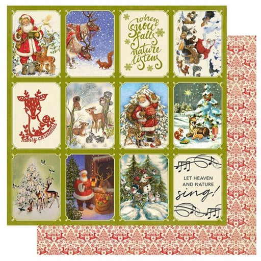 Authentique Christmas Greetings - #2 Reindeer 3x4 Cut Aparts