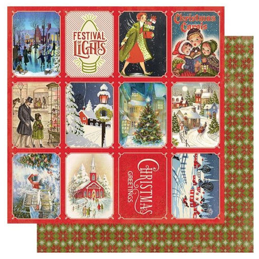 Authentique Christmas Greetings - #3 Small Town 3x4 Cut Aparts