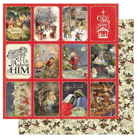 Authentique Christmas Greetings - #4 Nativity Scenes 3x4 Cut Aparts