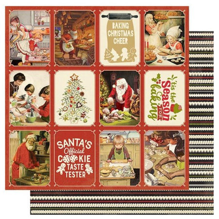 Authentique Christmas Greetings - #5 Cookies & Baking 3x4 Cut Aparts
