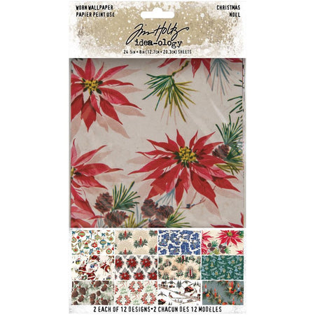 Tim Holtz Idea-ology - Worn Wallpaper Christmas