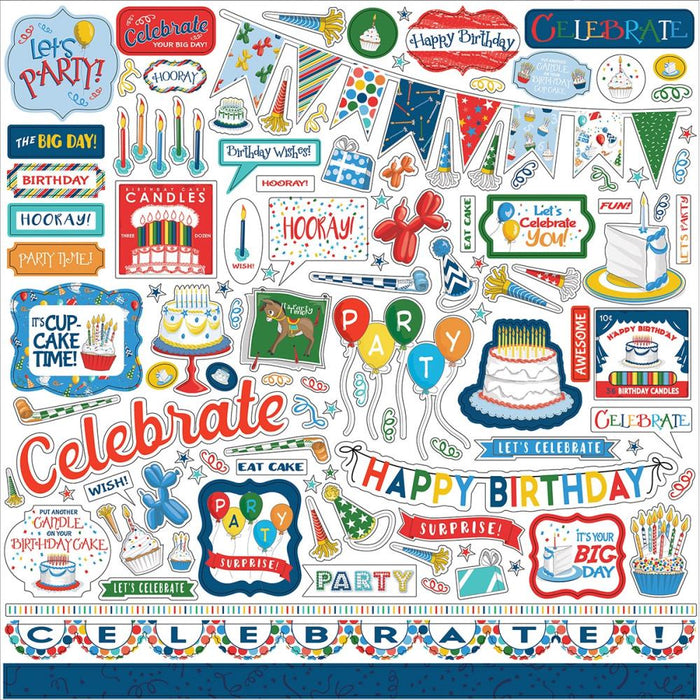 Carta Bella Let's Celebrate - Element Stickers