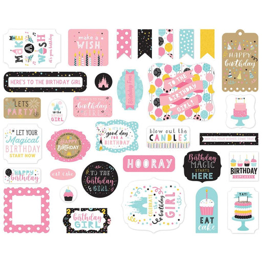 Echo Park Magical Birthday Girl - Ephemera Icons