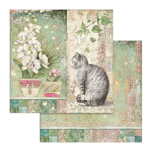 Stamperia Orchids & Cats - Cat & Vase